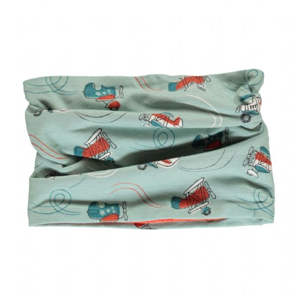 Maxomorra Air Show Velour Tube Scarf